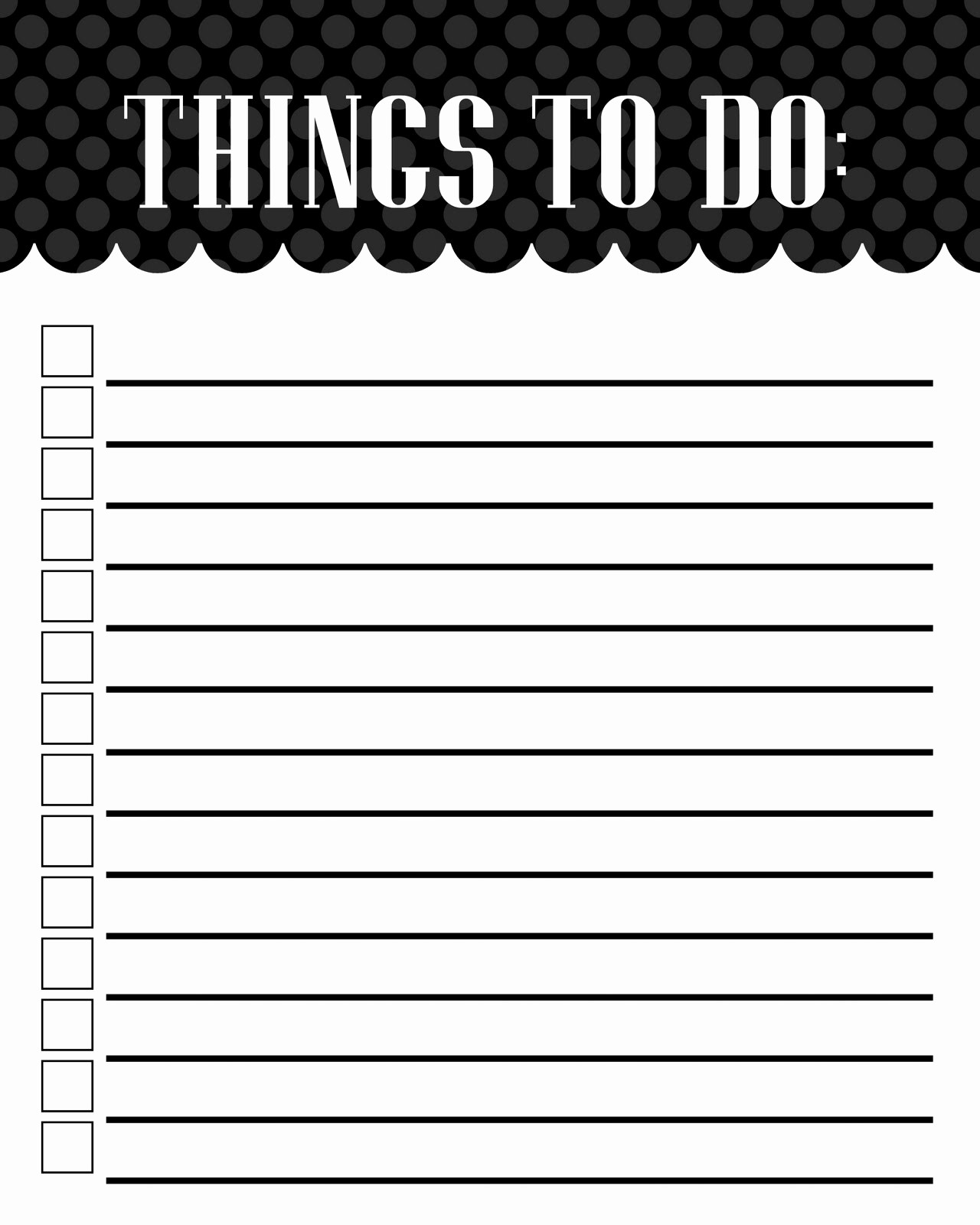 Printable Things to Do Lists Inspirational Free Blank Printable to Do List Templates Word Excel Pdf