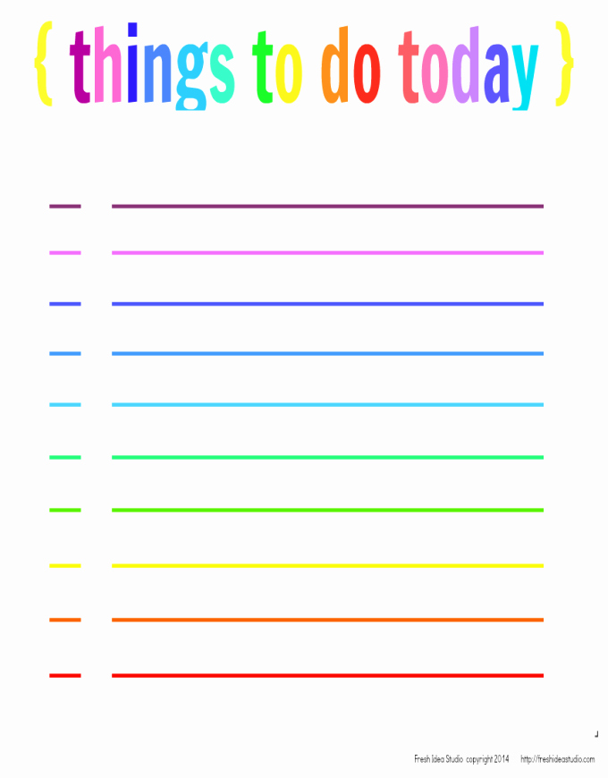 Printable Things to Do Lists New Project organize Free Printable Planner