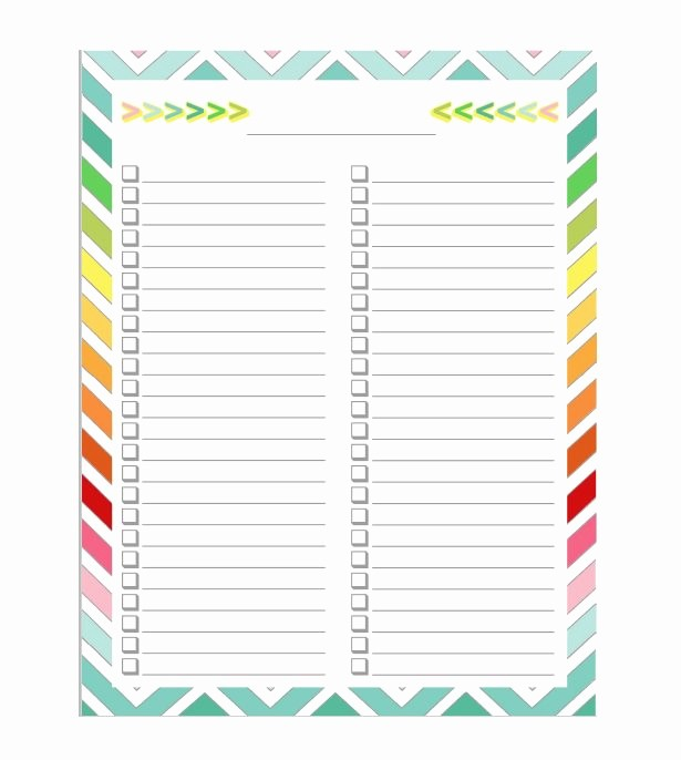 Printable to Do List Template Awesome 50 Printable to Do List & Checklist Templates Excel Word