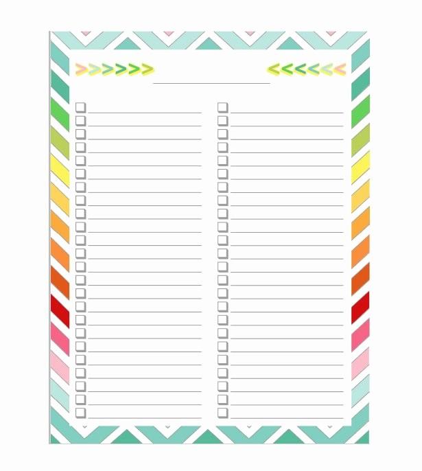 Printable to Do List Template Awesome 50 Printable to Do List & Checklist Templates Excel Word
