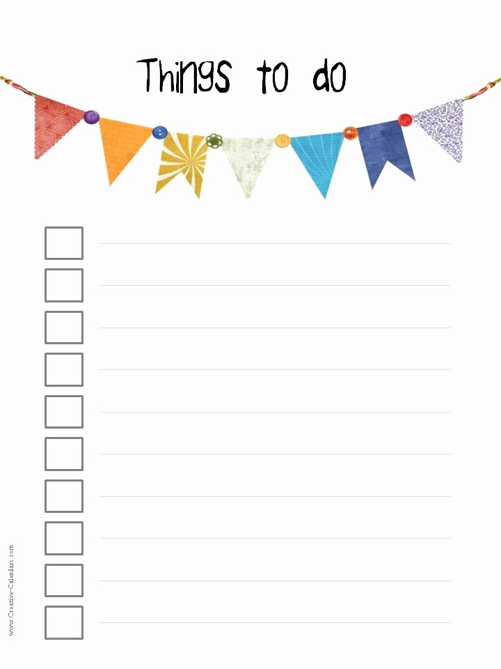 Printable to Do List Template Beautiful to Do List Template