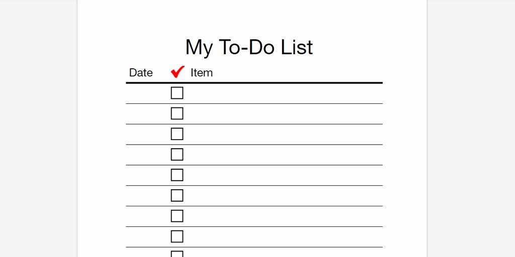 Printable to Do List Template Fresh Every to Do List Template You Need the 21 Best Templates