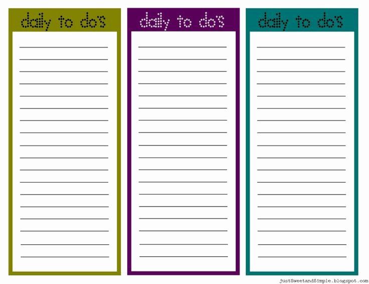 Printable to Do List Template Inspirational Printable Task List