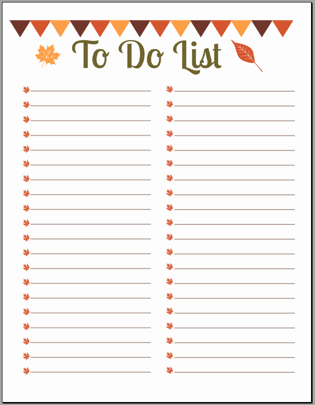 Printable to Do List Template Luxury 10 Printable to Do List Templates Excel Templates