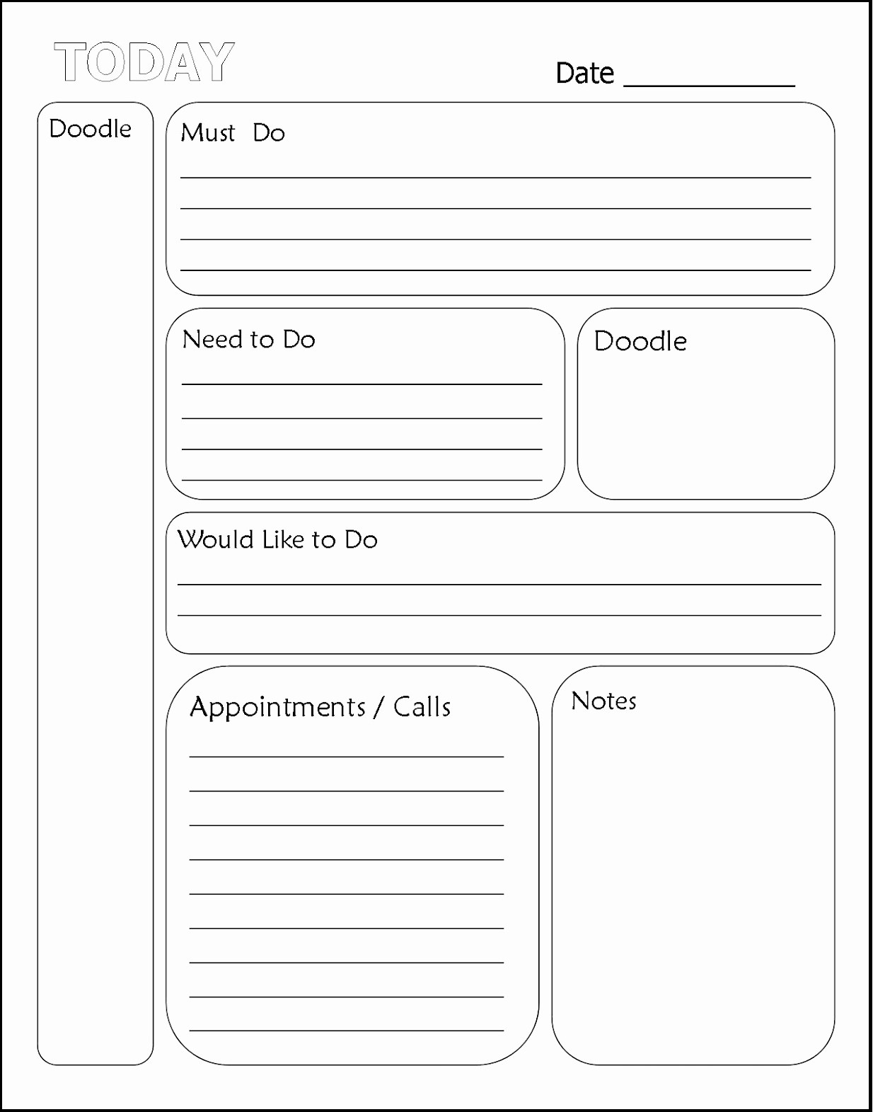 Printable to Do List Template Unique Printable Daily Planner