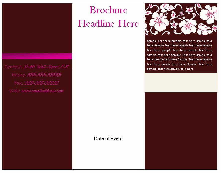 Printable Tri Fold Brochure Template Awesome Free Printable Brochure Template