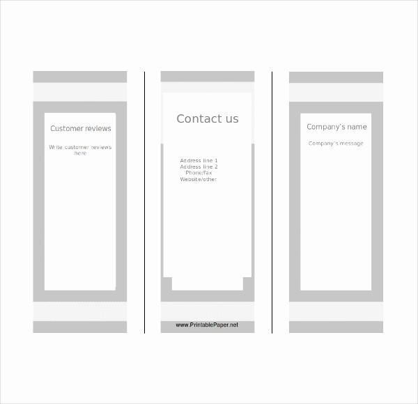 Printable Tri Fold Brochure Template Luxury Blank Tri Fold Brochure Templates – 31 Free Psd Ai