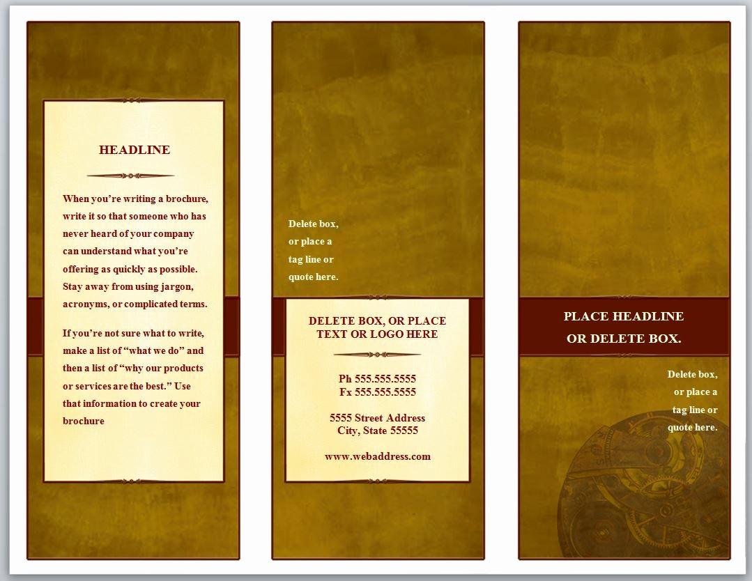 Printable Tri Fold Brochure Template New Tri Fold Brochure Template