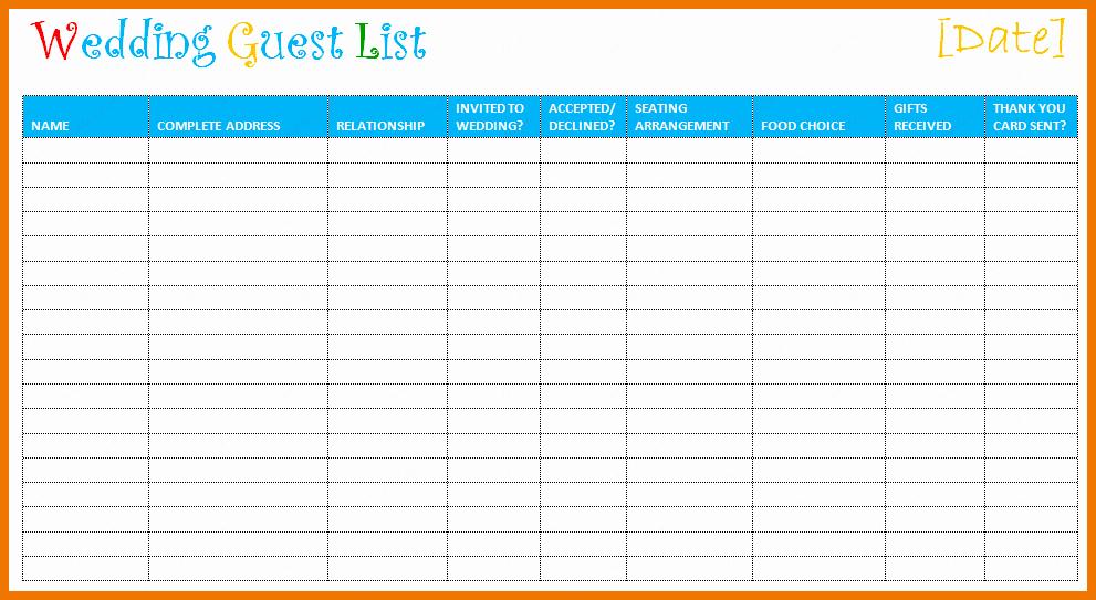Printable Wedding Guest List organizer Awesome Free Printable Wedding organizer
