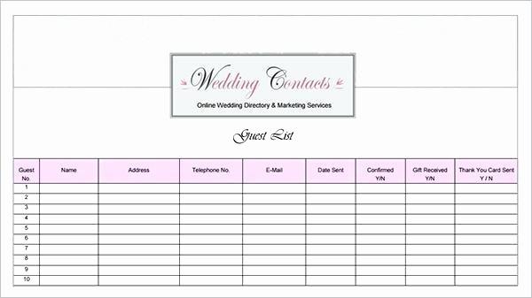 Printable Wedding Guest List organizer Awesome Guest List Template Google Docs – Onemonthnovelfo