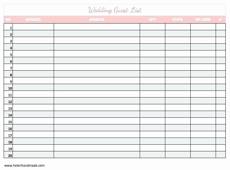 Printable Wedding Guest List organizer Beautiful Wedding Guest List Excel Template Mac Invitation Checklist