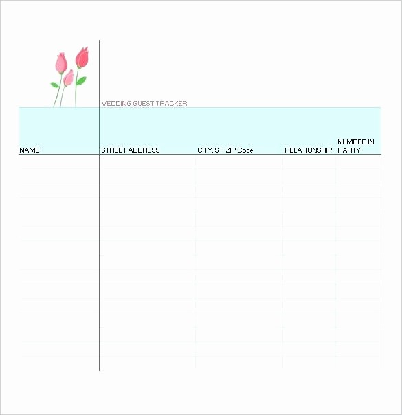 Printable Wedding Guest List organizer Inspirational Wedding Guest List organizer Printable Etiquette Free
