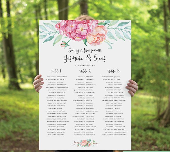 Printable Wedding Seating Chart Template Beautiful 24 Seating Chart Templates Doc Pdf