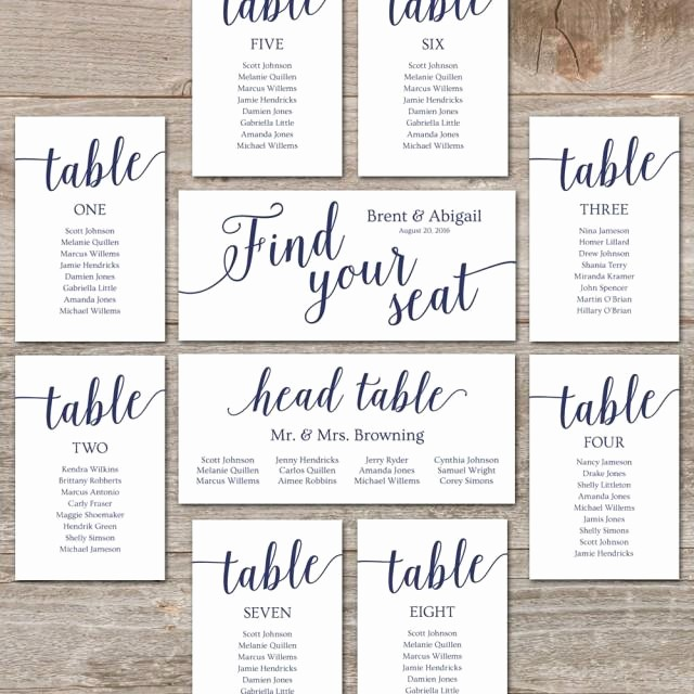Printable Wedding Seating Chart Template Beautiful Wedding Seating Chart Template Diy Seating Cards