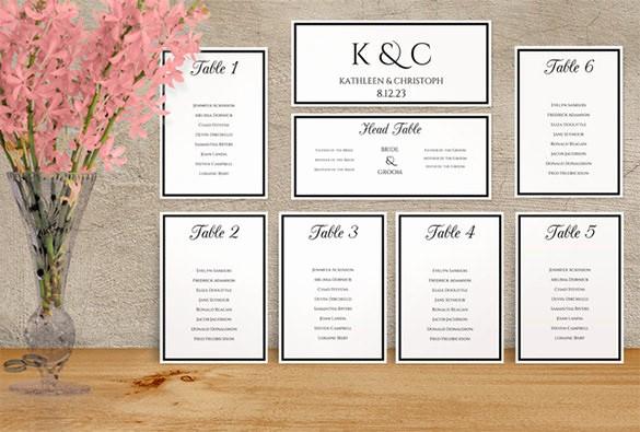 Printable Wedding Seating Chart Template Beautiful Wedding Seating Chart Template