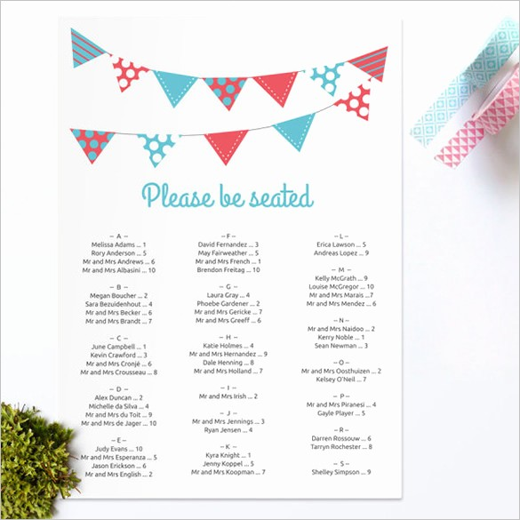 Printable Wedding Seating Chart Template Beautiful Wedding Seating Chart Template