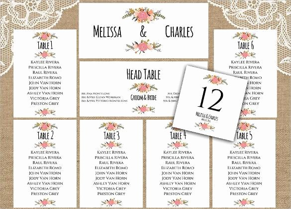 Printable Wedding Seating Chart Template Best Of 34 Wedding Seating Chart Templates Pdf Doc