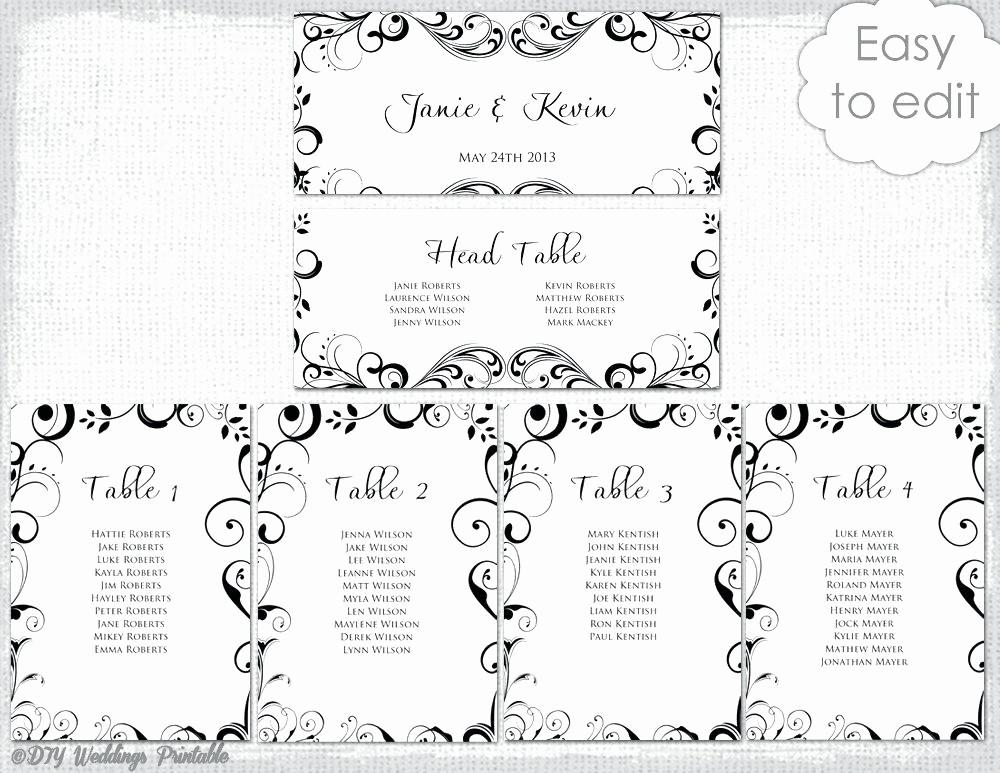 Printable Wedding Seating Chart Template Elegant Wedding Ceremony Seating Chart – Newscellarfo