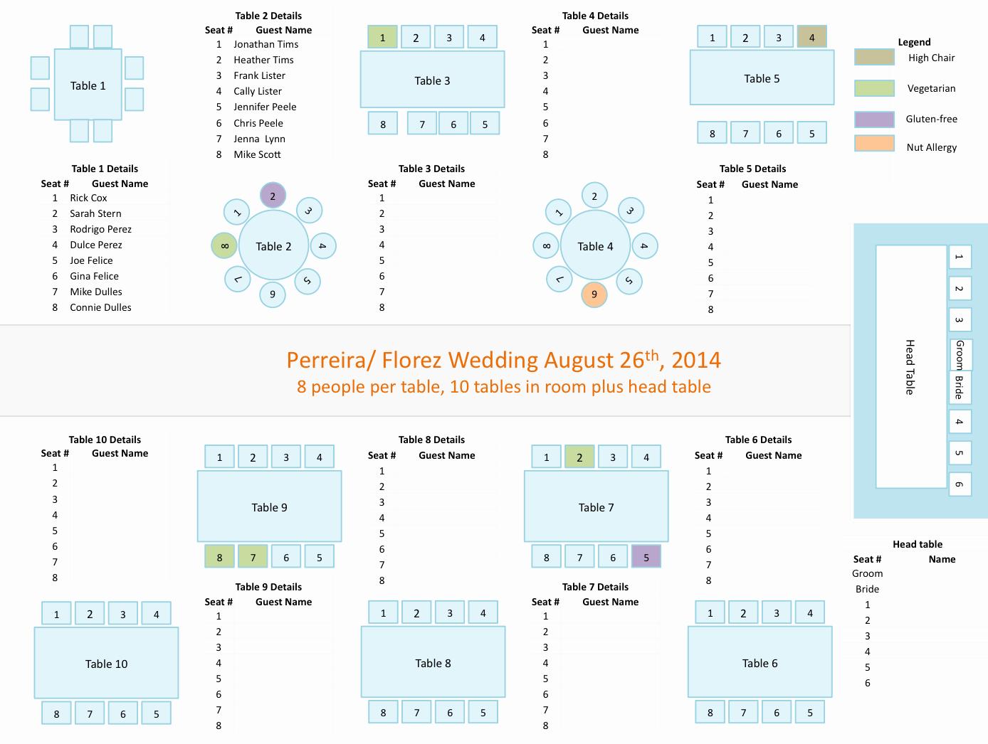 Printable Wedding Seating Chart Template Elegant Wedding Seating Chart Template