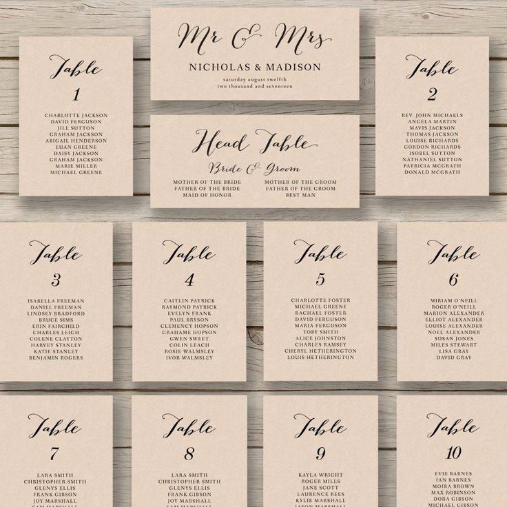 Printable Wedding Seating Chart Template Fresh Wedding Seating Chart Template Printable by