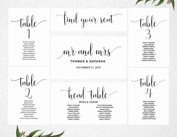 Printable Wedding Seating Chart Template Inspirational 25 Best Seating Chart Template Ideas On Pinterest