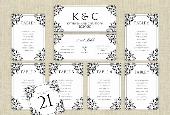 Printable Wedding Seating Chart Template Inspirational Wedding Seating Chart Template Download by Karmakweddings