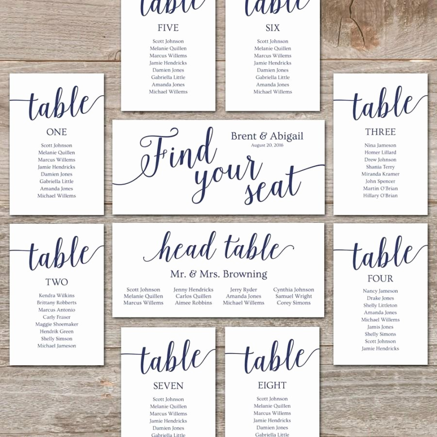 Printable Wedding Seating Chart Template Luxury Wedding Seating Chart Template Diy Seating Cards