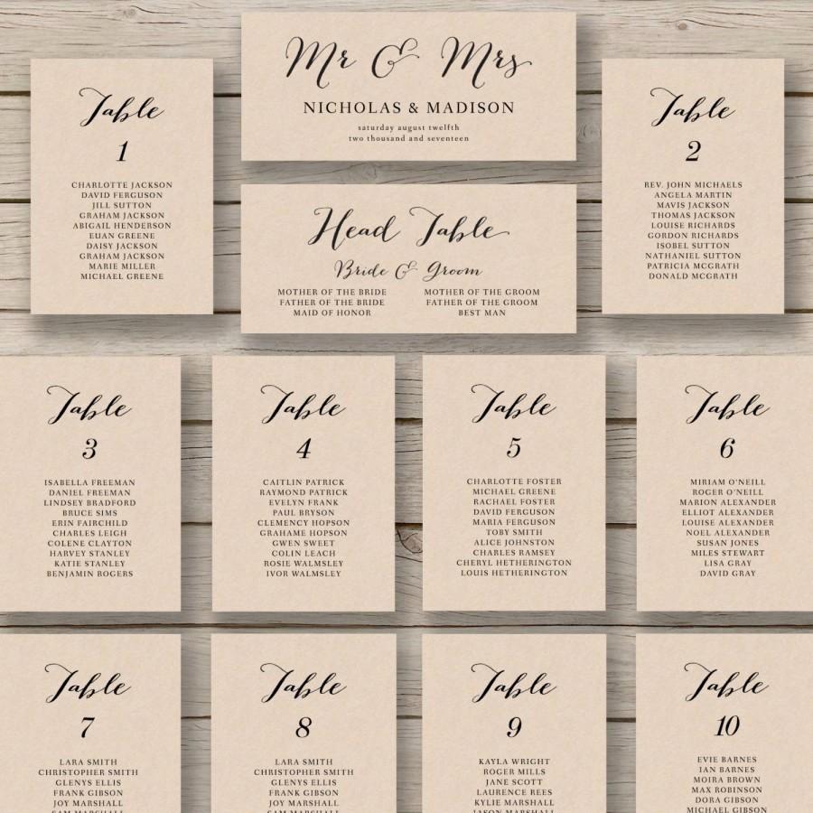Printable Wedding Seating Chart Template Unique Wedding Seating Chart Template Printable Seating Chart
