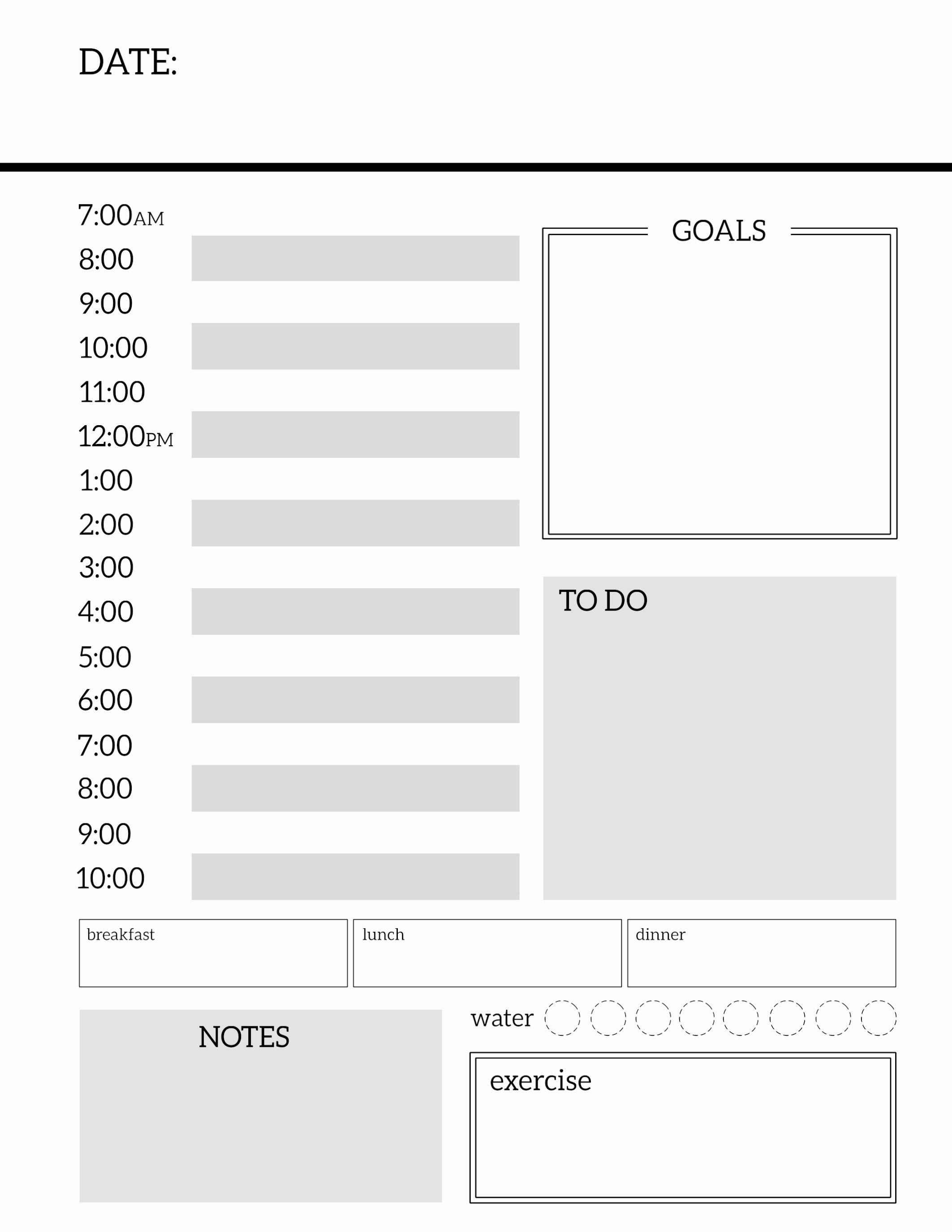 Printable Weekly Calendars with Times Beautiful Daily Planner Printable Template Sheets Paper Trail Design