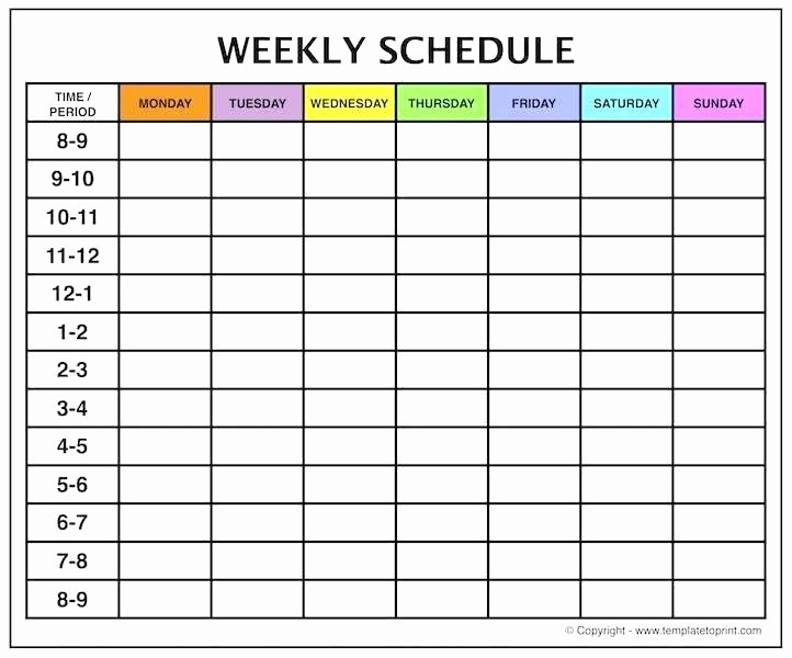 Printable Weekly Calendars with Times Best Of Excel Monthly Calendar Month Template Word Meal Plan and