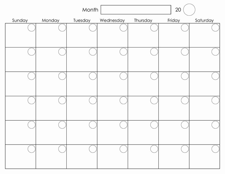 Printable Weekly Calendars with Times Best Of Printable Blank Monthly Calendar