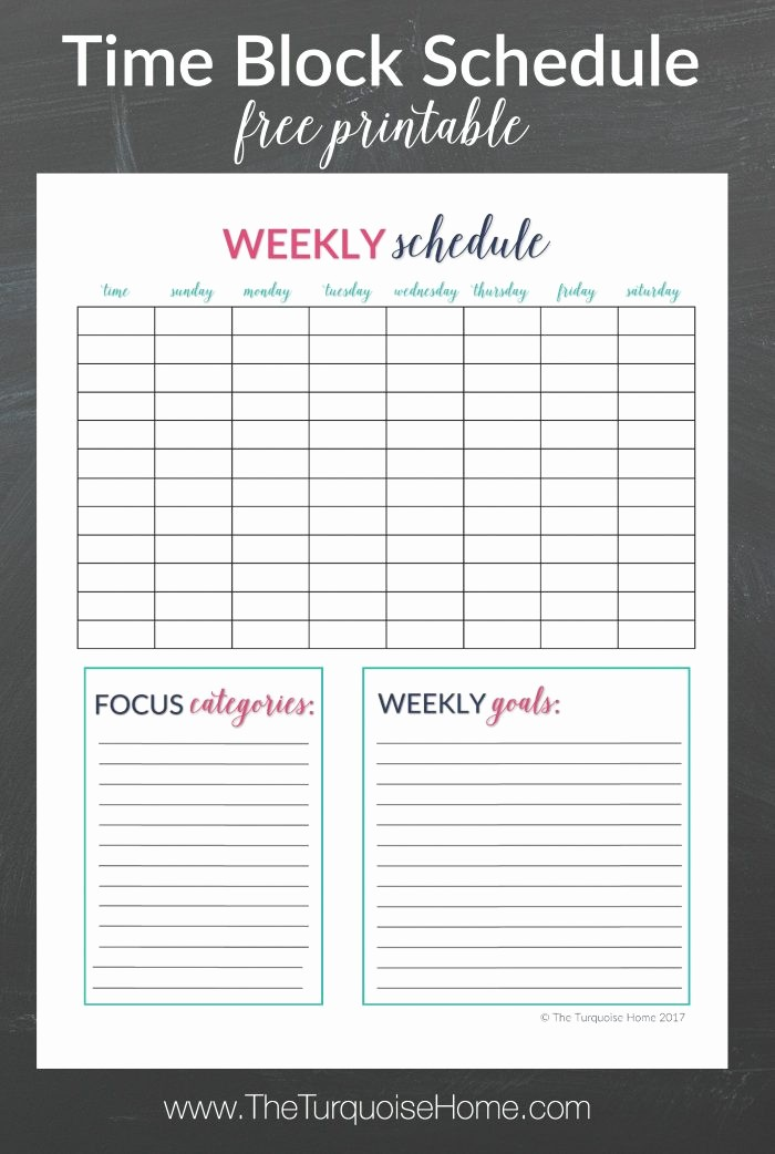 Printable Weekly Calendars with Times New An organized Work Day My Big Secret for Being Crazy