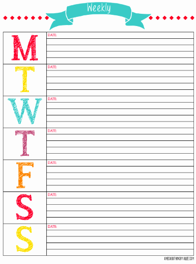 Printable Weekly Calendars with Times Unique the Mega List Of Free Printable Calendars and Planners for