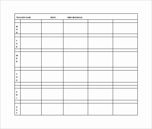 Printable Weekly Lesson Plan Templates Awesome Elementary Lesson Plan Template 11 Pdf Word format