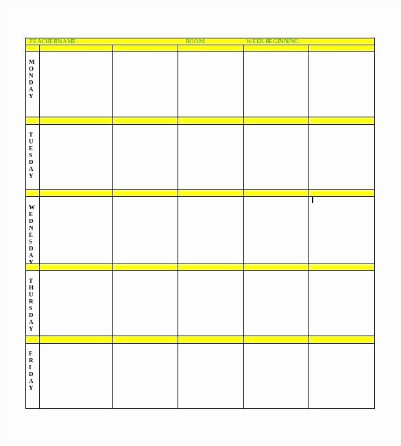 Printable Weekly Lesson Plan Templates Awesome Printable Weekly Teacher Planner Plans for Teachers Lesson