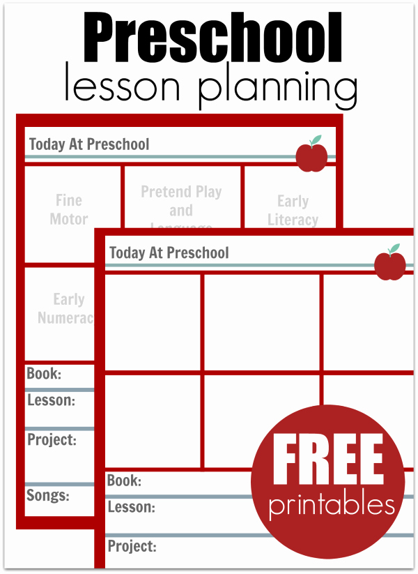 Printable Weekly Lesson Plan Templates Best Of Preschool Lesson Planning Template Free Printables No