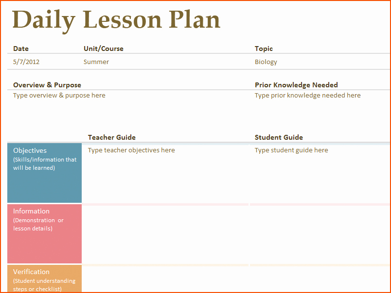 Printable Weekly Lesson Plan Templates Luxury 8 Free Printable Lesson Plan Template Bookletemplate