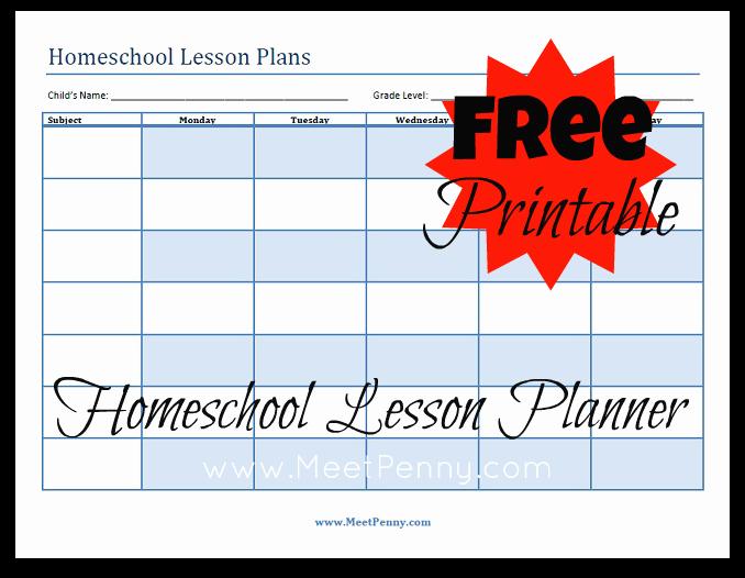 Printable Weekly Lesson Plan Templates Unique Blueprints organizing Your Homeschool Lesson Plans Meet
