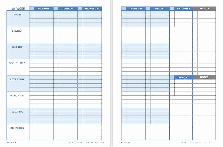 Printable Weekly Planner for Students Awesome 15 Best Education Resources Images On Pinterest