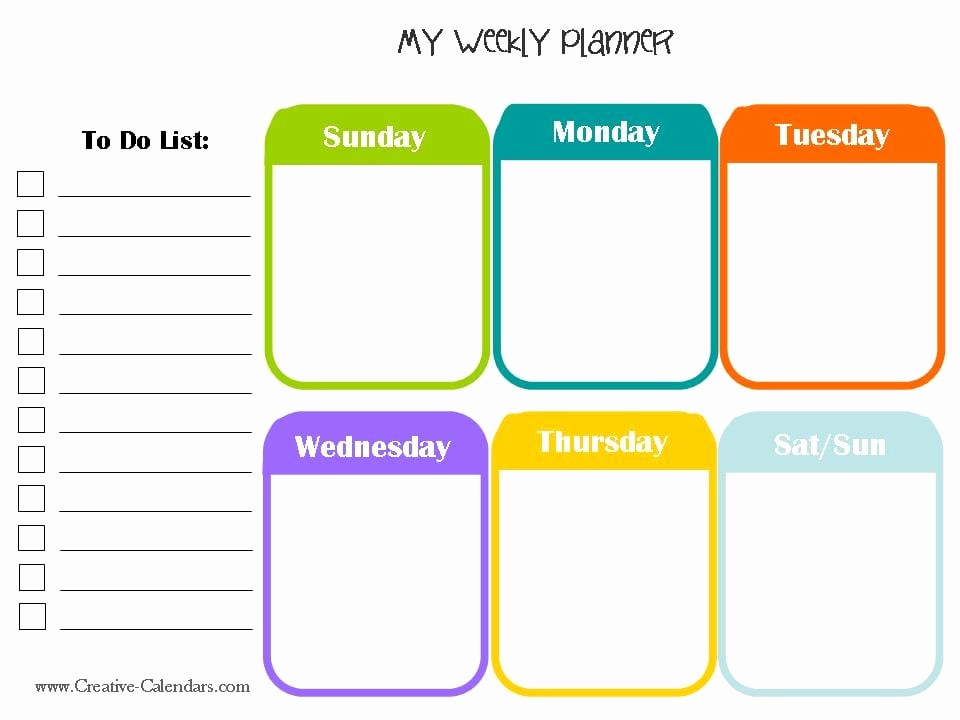 Printable Weekly Planner for Students Beautiful 10 Weekly Planner Templates Word Excel Pdf formats