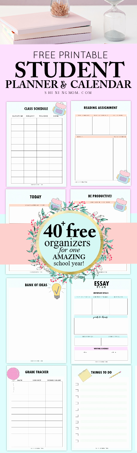 Printable Weekly Planner for Students Beautiful 40 Free Student Planner Printables for Back to School
