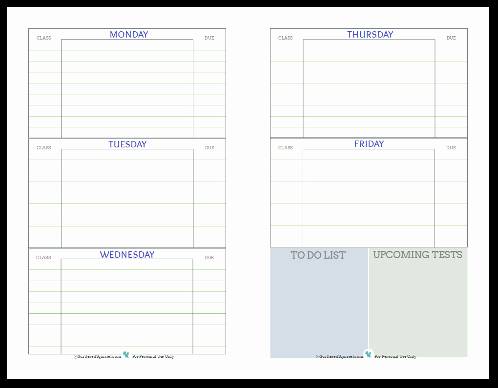 Printable Weekly Planner for Students Beautiful Getting Ready for Back to School Student Planner Printables
