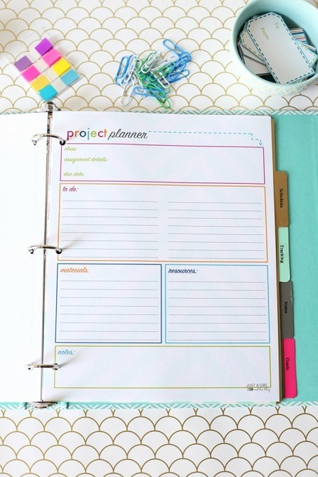 Printable Weekly Planner for Students Lovely Printable Student Binder Just A Girl and Her Blog