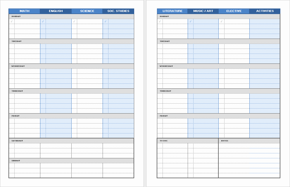 Printable Weekly Planner for Students Luxury 5 Best Daily Planner for Students Free