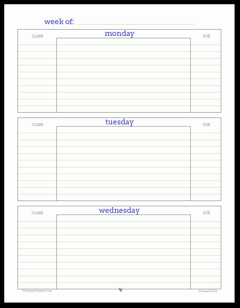 Printable Weekly Planner for Students Unique Getting Ready for Back to School Student Planner Printables