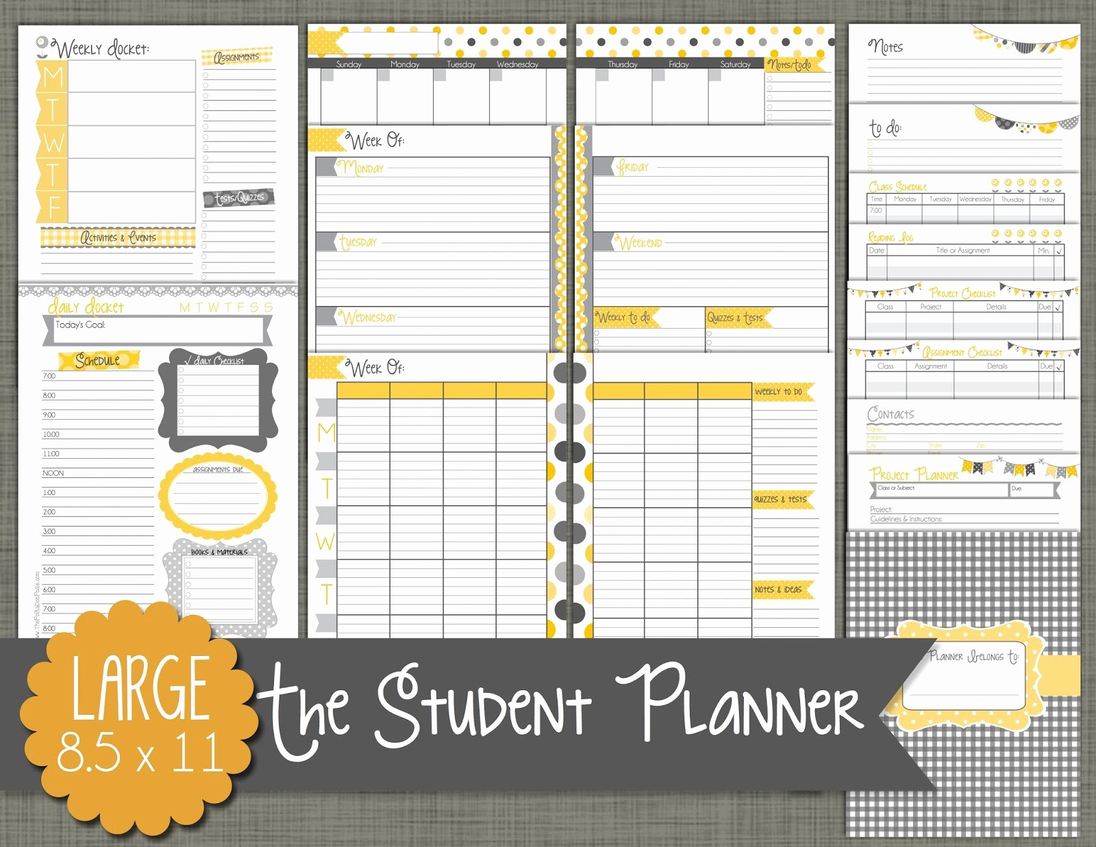 Printable Weekly Planner for Students Unique Student Weekly Planner Template Beautiful Template