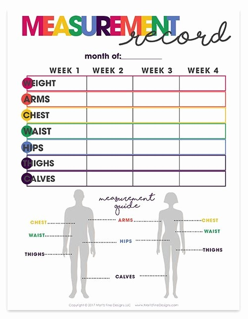 Printable Weight Loss Measurement Chart Fresh 153 Best Images About Fitness Tracker Log On Pinterest