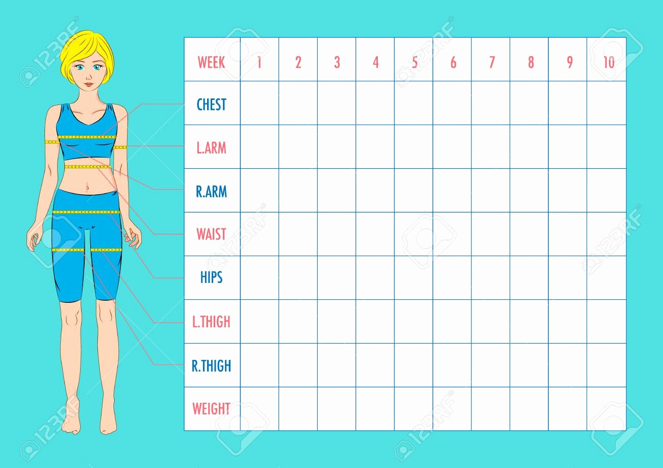 Printable Weight Loss Measurement Chart New Male Body Measurement Chart Printable Weight Loss Excel