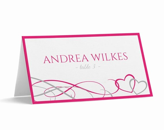 Printing Tent Cards In Word Awesome Place Card Tent Download Instantly Editable by Karmakweddings