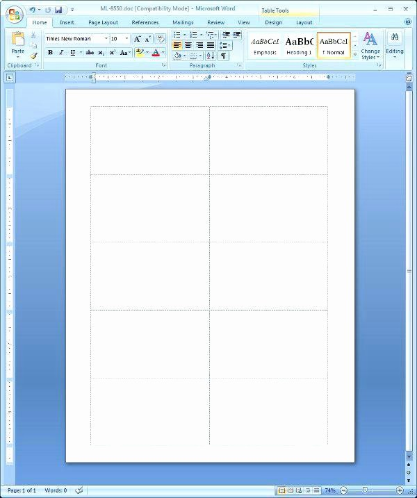 Printing Tent Cards In Word Fresh Microsoft Word Table Tent Template 1 Per Page